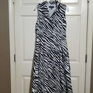 Jones New York | Zebra print sleeveless dress 10